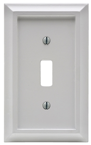 Amerelle 2040TW Decorative Wallplate, 1-Gang, Wood, White - CBS BAHAMAS LTD